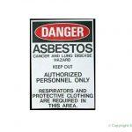 asbestos warning signage